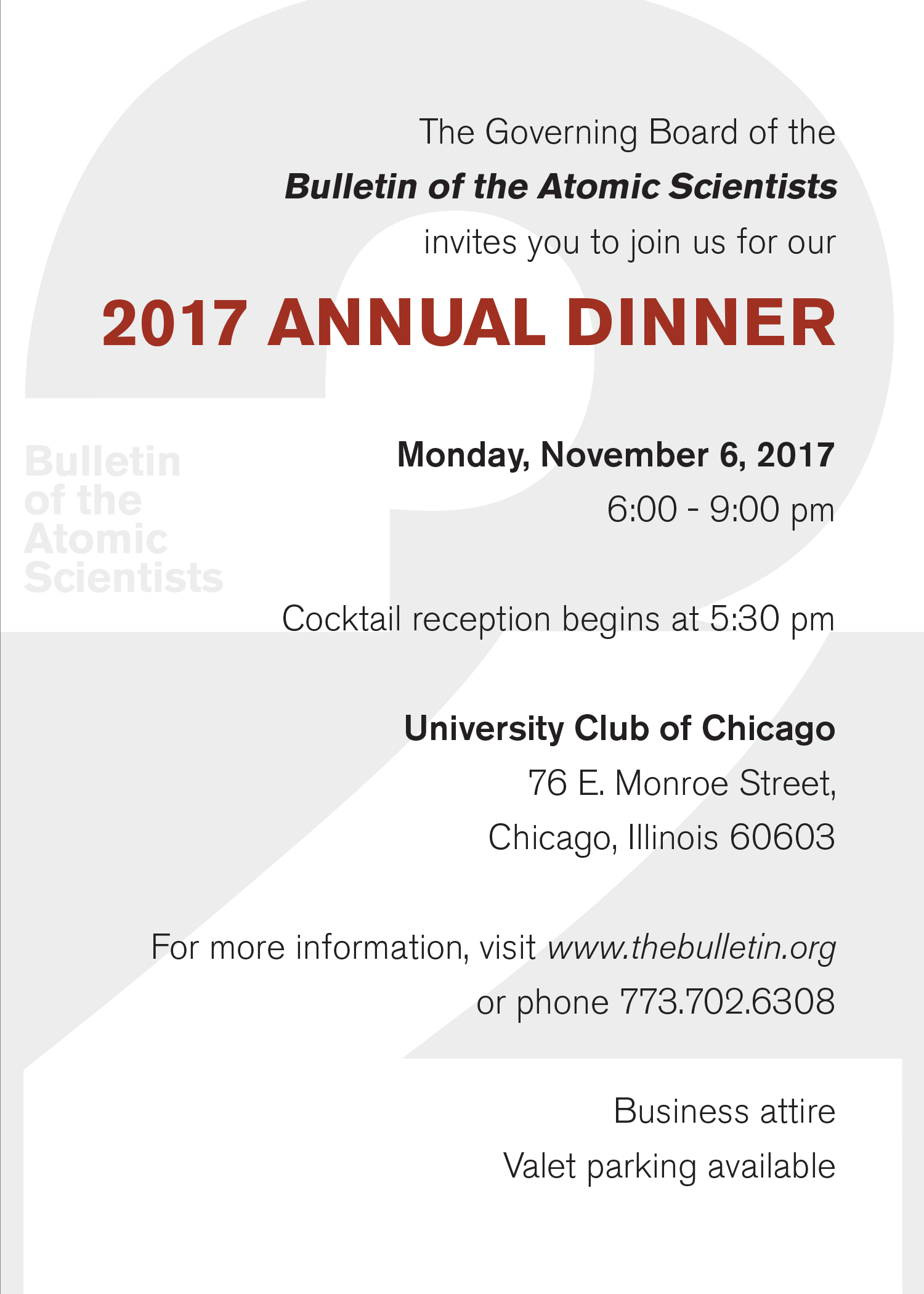 2017 annual dinner and meeting