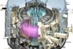 A cutaway of the ITER tokamak; the hot plasma is in pink. © ITER Organization