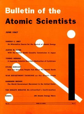 The original Doomsday Clock from the 1947 cover of the Bulletin of the Atomic Scientists