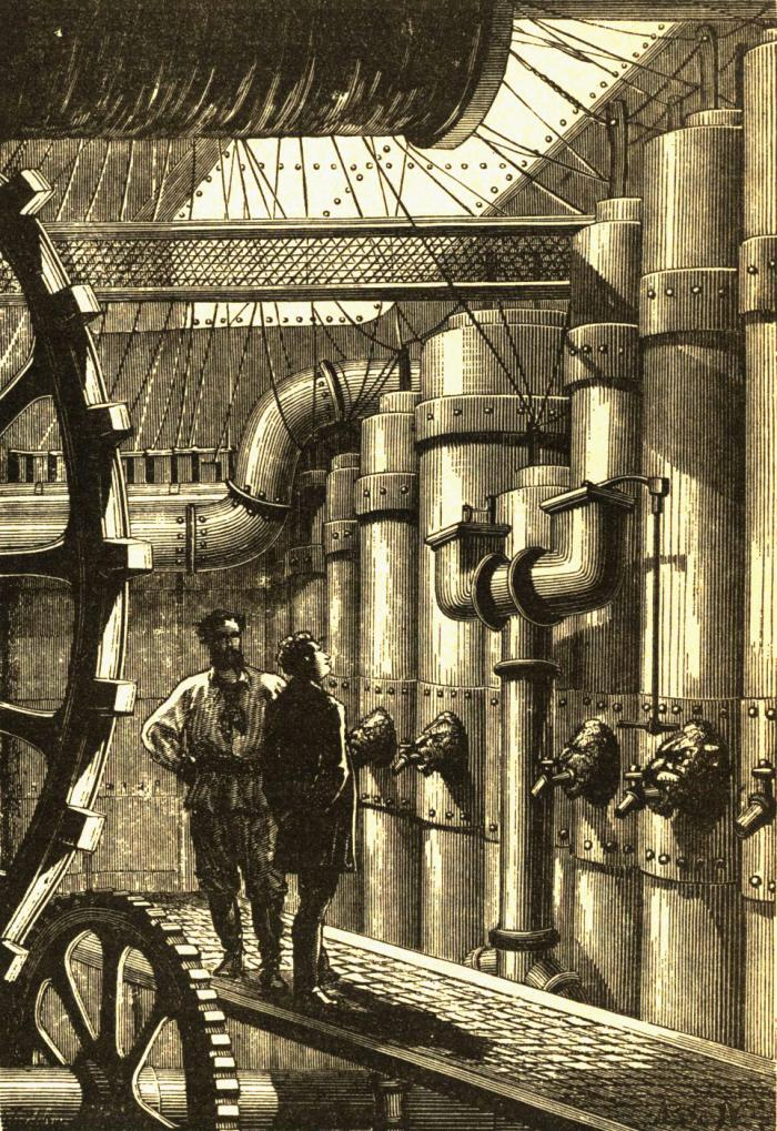 The engine room of the Jules Verne Nautilus