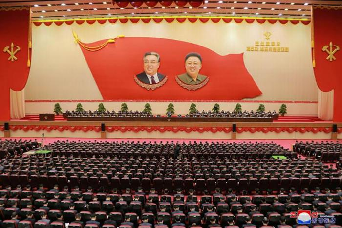 ​​​​​​​Kim Jong-un at Korean Workers Party Fifth Conference of Cell Chairpersons in North Korea
