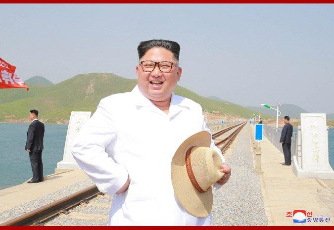 Kim Jong-un tours North Korea Koam-Tapchon railway project