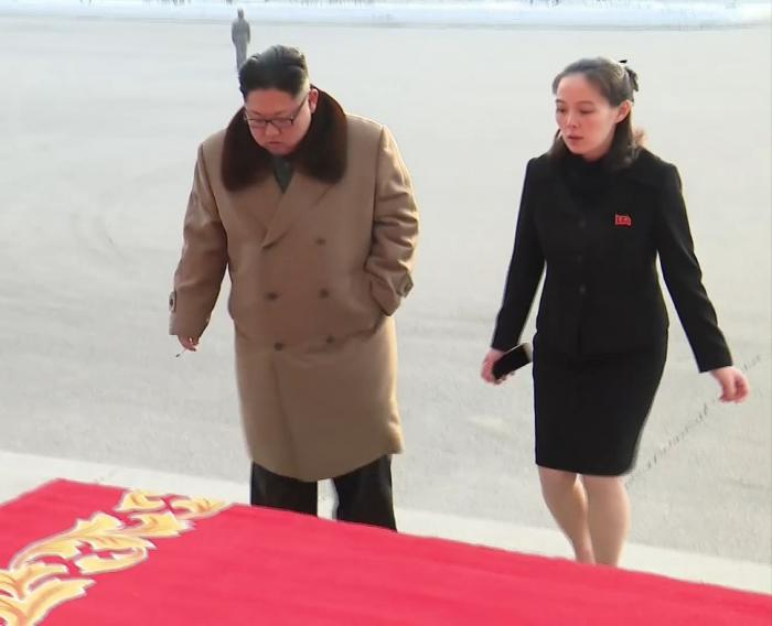 Kim Jong-un with sister Kim Yo-Jong in Pyongyang, North Korea