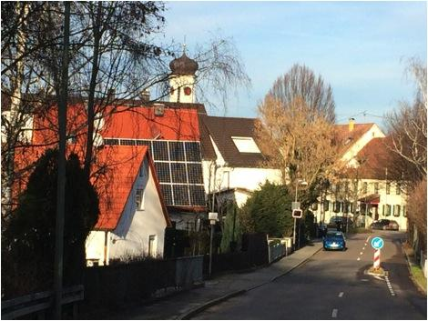 A solar-powered house in the southern German town of Meitingen.