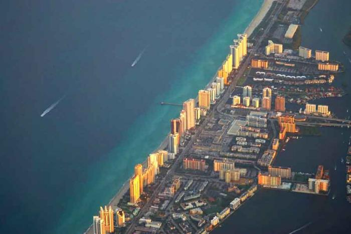 Miami is vulnerable to climate change.