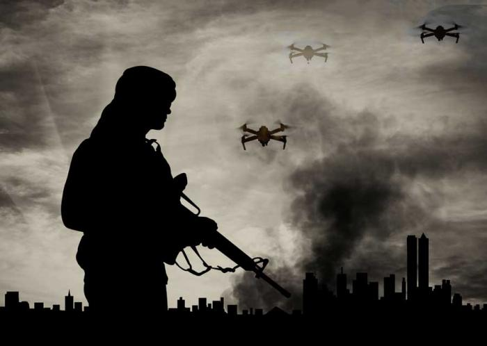 Militant groups are using drones.