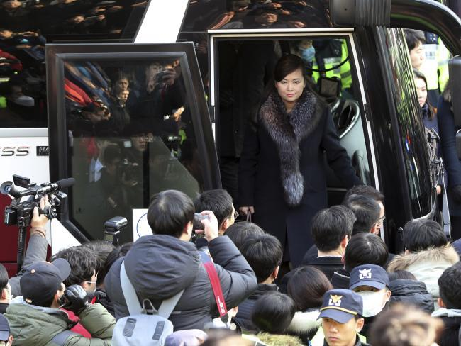 North Korean singer Hyon Song Wol during a visit to Seoul in January, 2018.