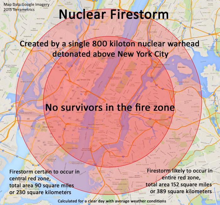 What Would Happen If An Kiloton Nuclear Warhead Detonated - Nuclear fallout map us