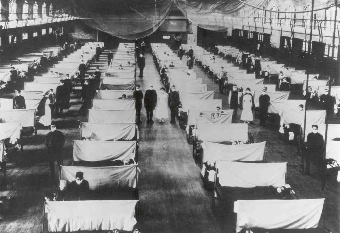 Spanish flu patients.