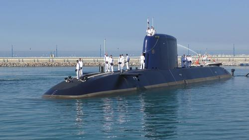 INS Rahav, the fifth submarine of the Israeli fleet, pictured in January 2016. Photo credit: wideweb / Shutterstock.com