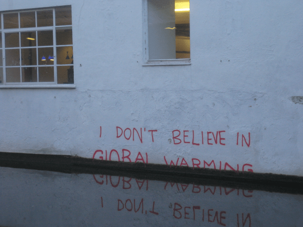 Graffiti in London, possibly a work of Banksy. Photo credit: Matt Brown