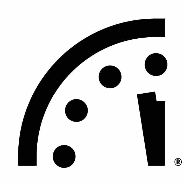 Doomsday Clock 100 seconds to midnight