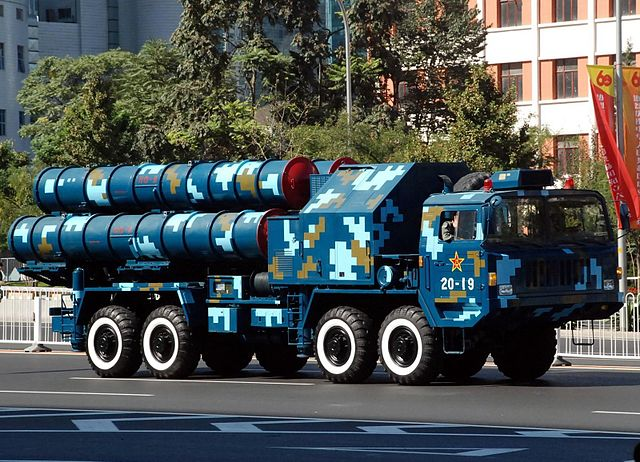 A Chinese HQ-9 air defense missile launcher, pictured in 2009.
