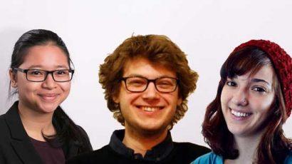 Delilah Marto, Michael Harrison, Gayle Spinazze.