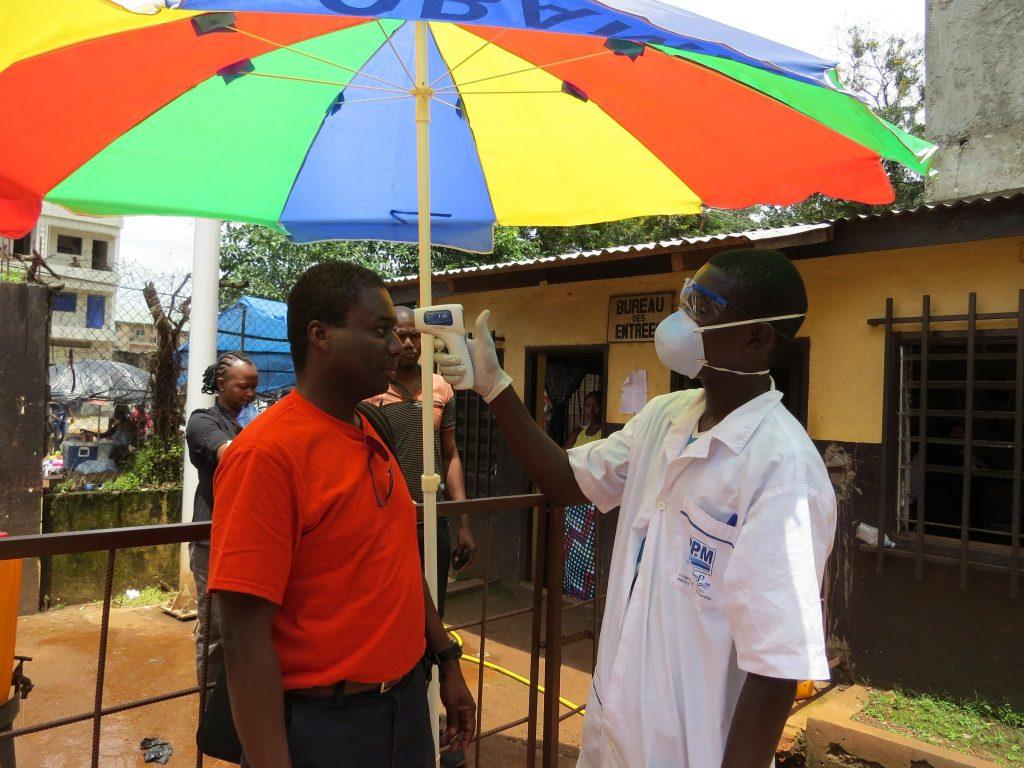 Ebola screening in Guinea in 2014.