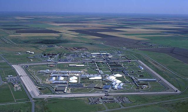 An undated aerial shot of the Pantex Plant in Amarillo, Texas, where US nuclear weapons are assembled and taken apart. Credit: US Government.