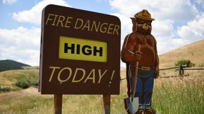 Smokey the Bear Fire Danger Warning Sign