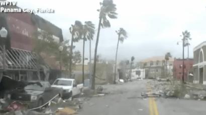 The scene in Panama City, Florida.