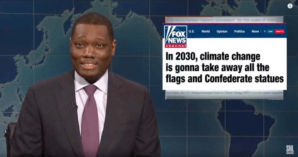 climate change weekend update saturday night live Michael che
