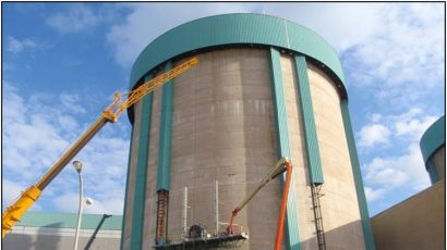 Decommissioning work in progress on Unit 2 at the Zion Nuclear Power Plant. (Photo credit: ZionSolutions LLC.)