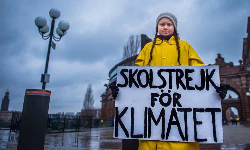 Greta Thunberg, 15. Photograph: Hanna Franzen/EPA