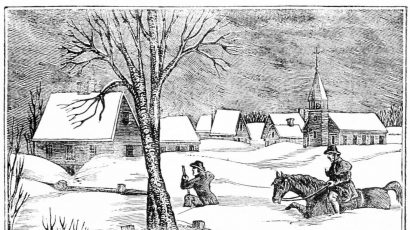 woodcut 1717 great snow Massachusetts