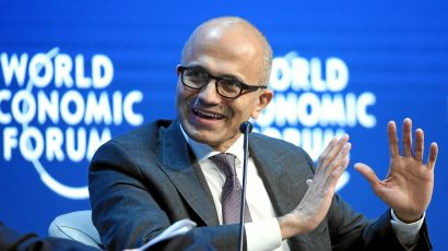 Microsoft CEO Satya Nadella. Credit: World Economic Forum / swiss-image.ch / Valeriano DiDomenico CC BY-NC-SA 2.0.