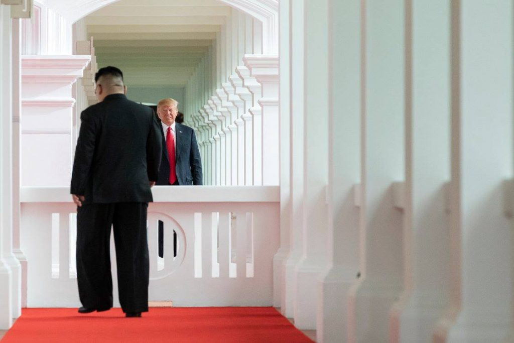 Trump and Kim in Singapore 2018