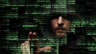 computer hacker and code