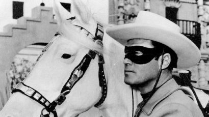 "Clayton Moore as the Lone Ranger in 1965. His ""silver"" bullets were actually made from aluminum."