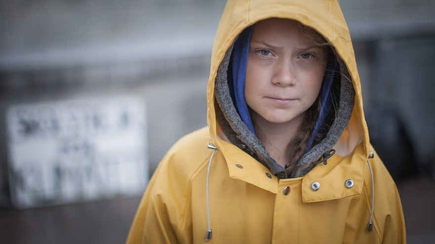 Greta Thunberg school strike for climate change