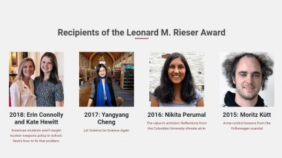Rieser Award Recipients