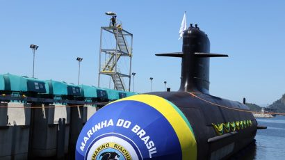 The Brazilian Navy's first Scorpène-class submarine, launched in December 2018.