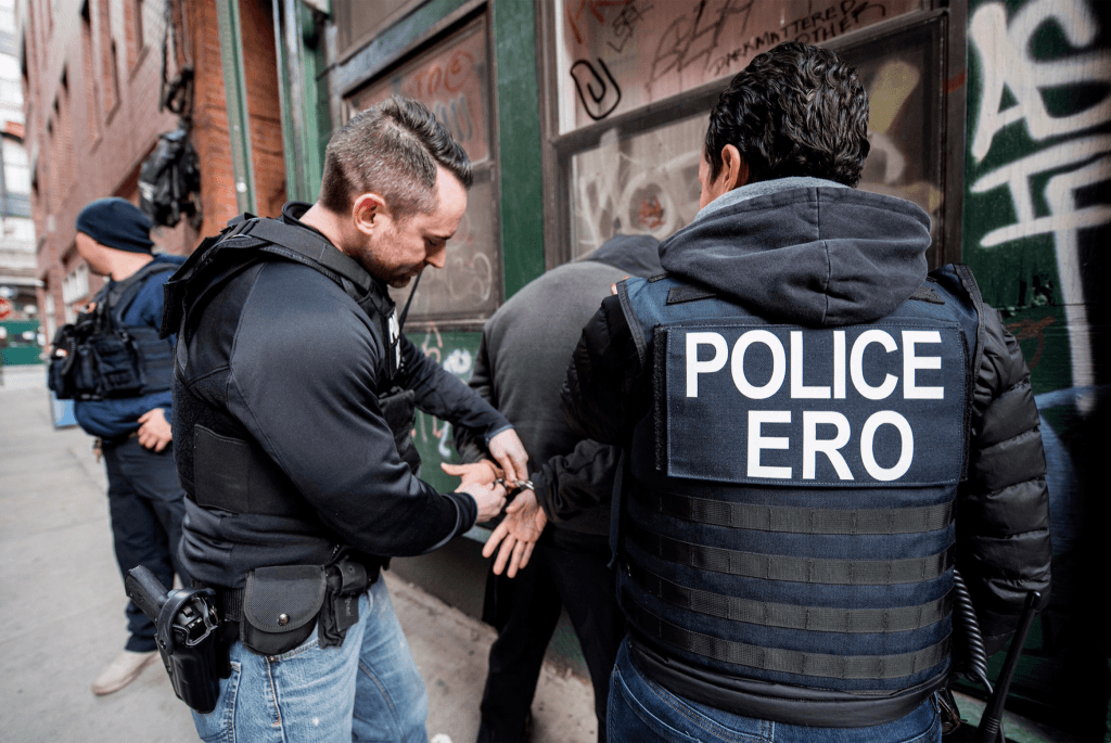 ICE Enforcement and Removal Operations agents. Credit: @ICEGov via Twitter.