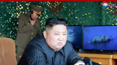 North Korean Chairman Kim Jong-un oversees a