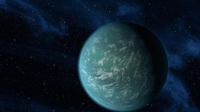 alien-looking exoplanet Kepler 22b