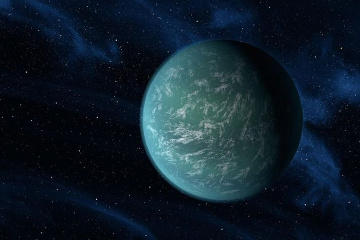 alien-looking exoplanet Kepler 22b