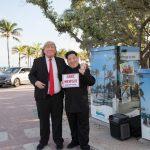 Trump and Kim impersonators