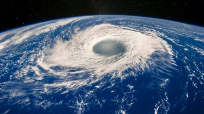 eye of hurricane seen from space