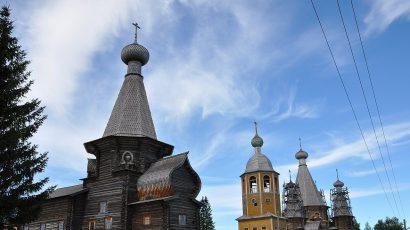St. Nicholas church in Nenoksa, Russia