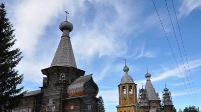 St. Nicholas church in Nenoksa, Russia