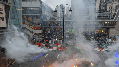 A recent protest in Hong Kong. Credit: Studio Incendo via Wikimedia Commons. CC BY-2.0.
