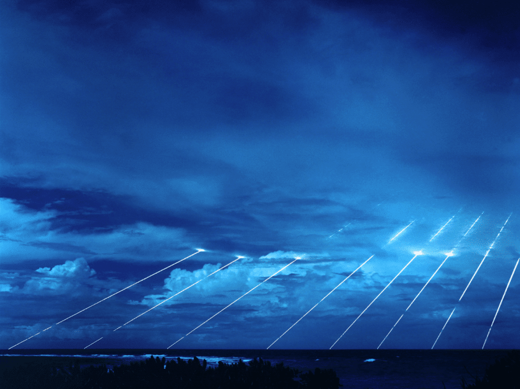 US missile tests. Photo via Wikimedia Commons. Public Domain.