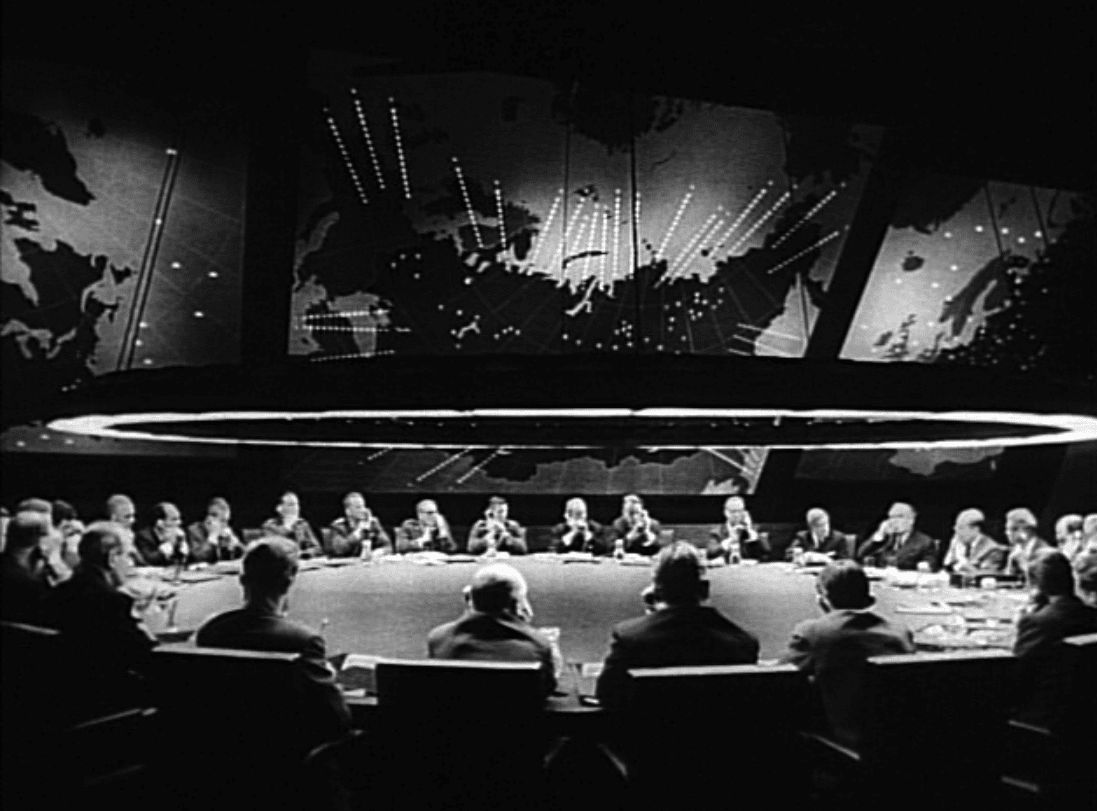 "The ""Doomsday Machine"" in the movie Dr. Strangelove shares some similarities with a system the Soviet Union actually set up. Photo via Wikimedia Commons. Public Domain."