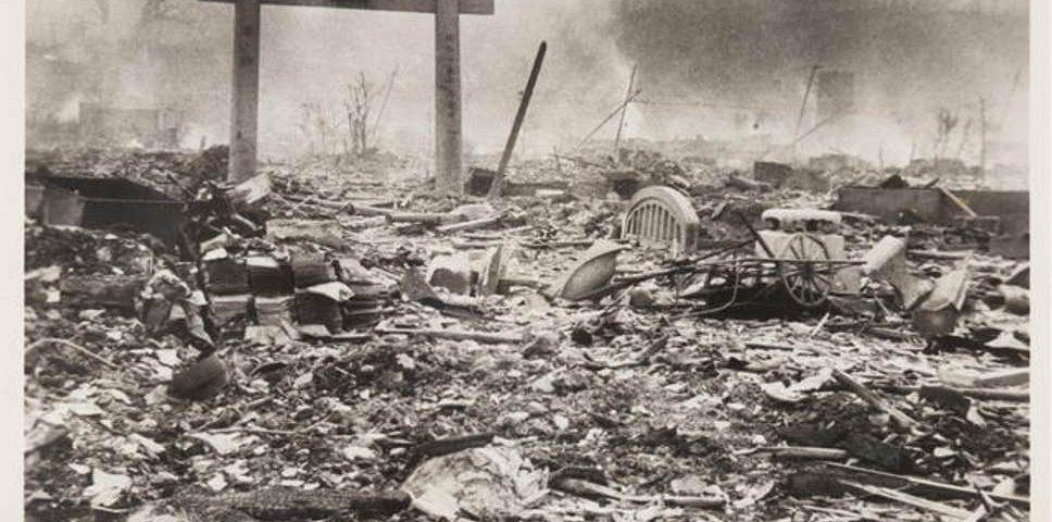One day after the Nagasaki bombing. Photo credit: Yosuke Yamahata.