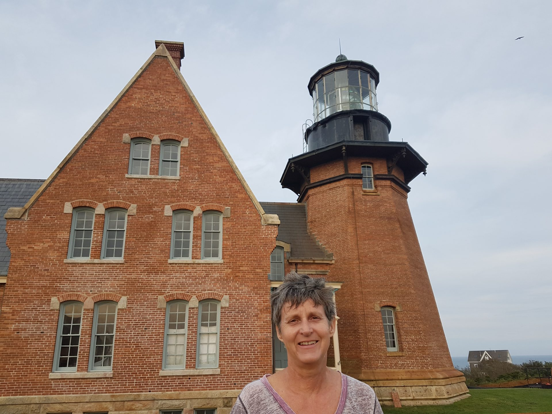Lisa Nolan, one of the driving forces behind preserving the island's Southeast Light. Photo courtesy of Dan Drollette Jr.