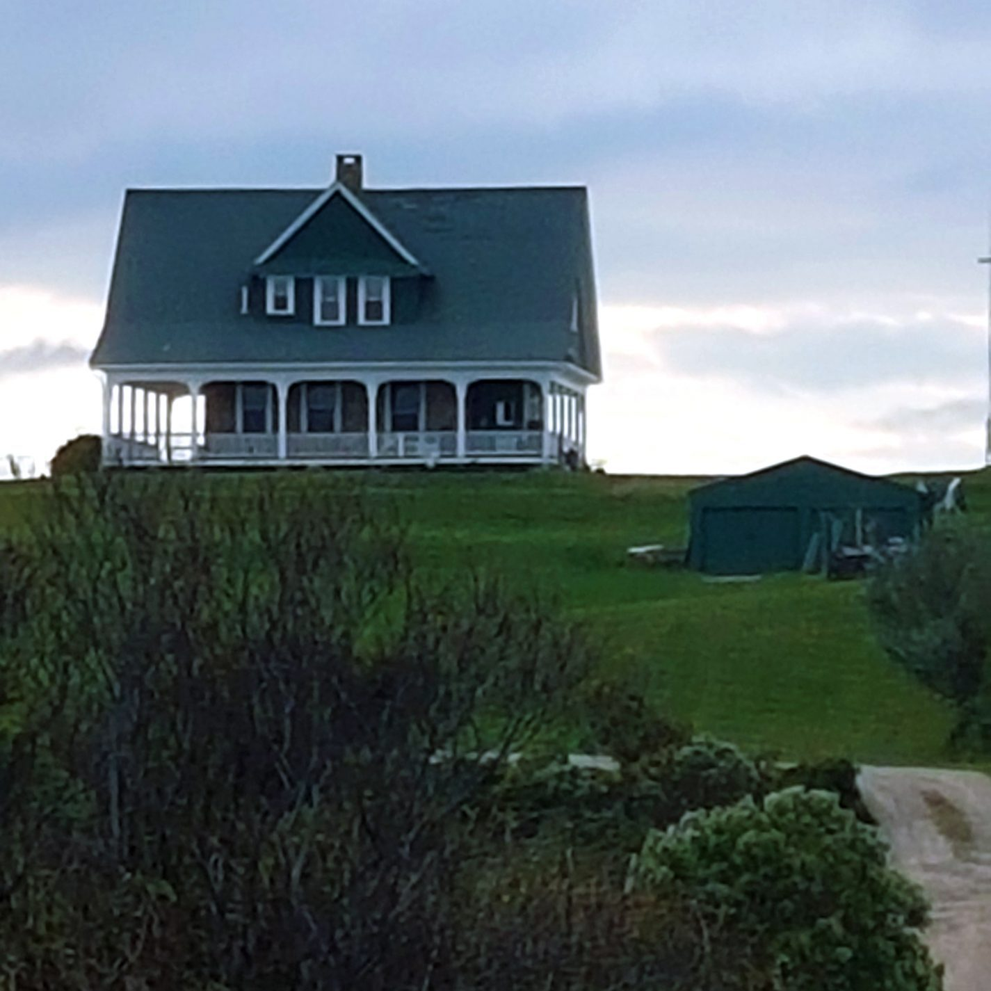 The distinctive architecture of this windswept island, with its emphasis on porches, can be seen in the most modern buildings. Photo courtesy of Dan Drollette Jr.