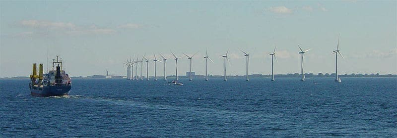 Middelgrunden offshore wind park, outside Copenhagen. Image courtesy Wikimedia, under Creative Commons License.