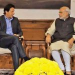 Imran Khan of Pakistan (left) and Narenda Modi of India