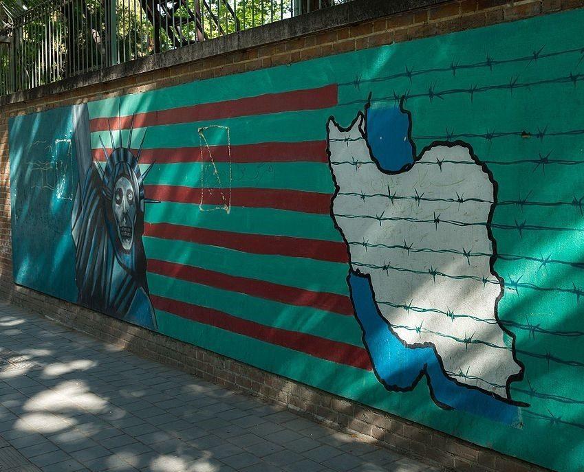 Tehran US embassy painting